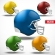 Set of American Football Helmet Side View - GraphicRiver Item for Sale