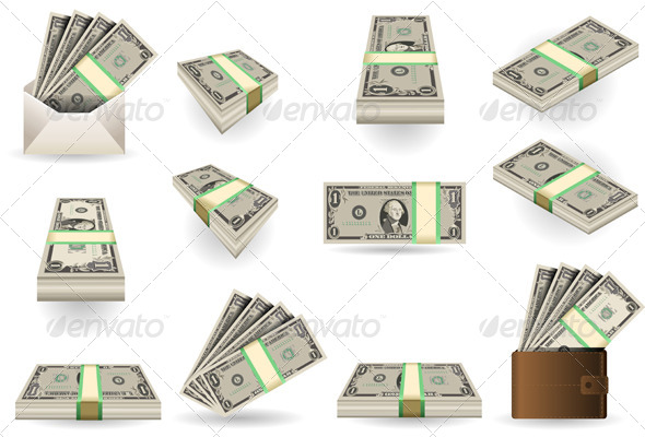 GraphicRiver Full Set of One Dollar Banknotes 7227188