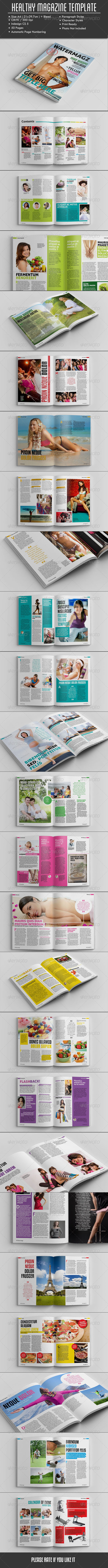GraphicRiver 50 Pages Healthy Magazine Template 7227296