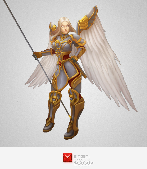3DOcean Low Poly Angel Female 7227387