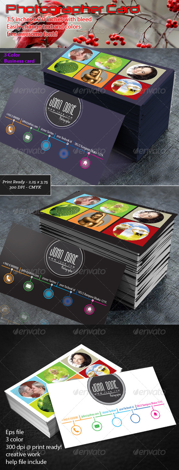 GraphicRiver Photography Business Card 7184745