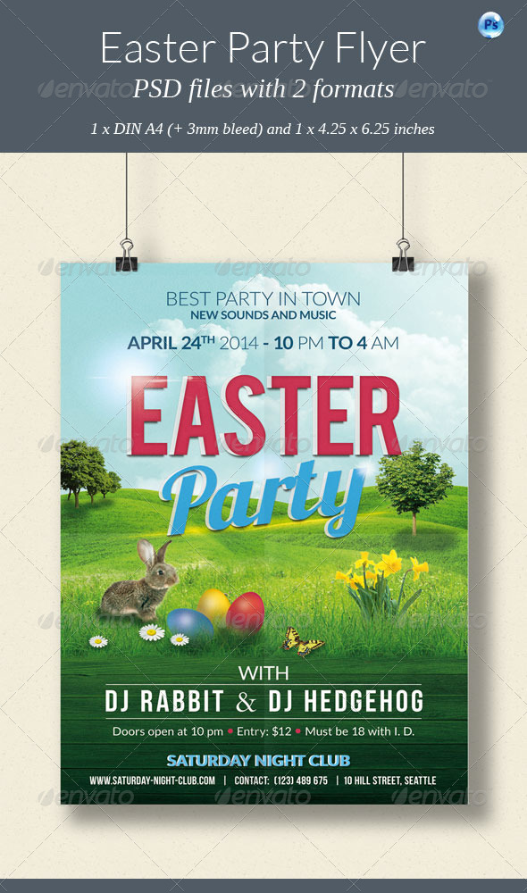 GraphicRiver Easter Party Flyer 7227590