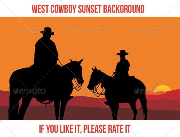 GraphicRiver West Cowboy Sunset 2 7227602