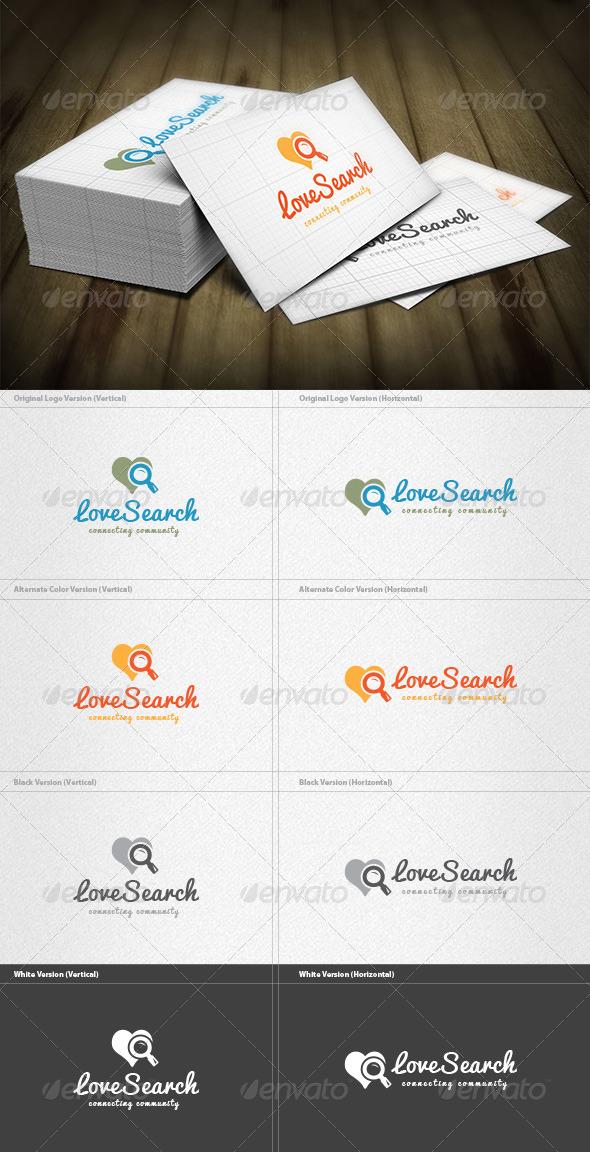 GraphicRiver Love Search Logo 7227621