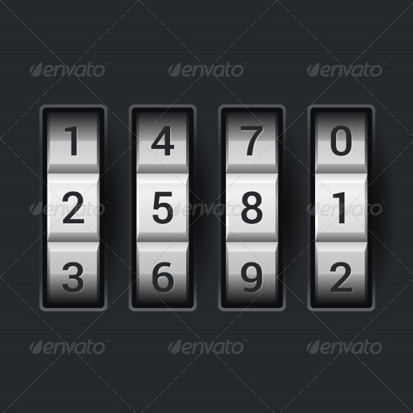 GraphicRiver Combination Lock Number Code 7227641