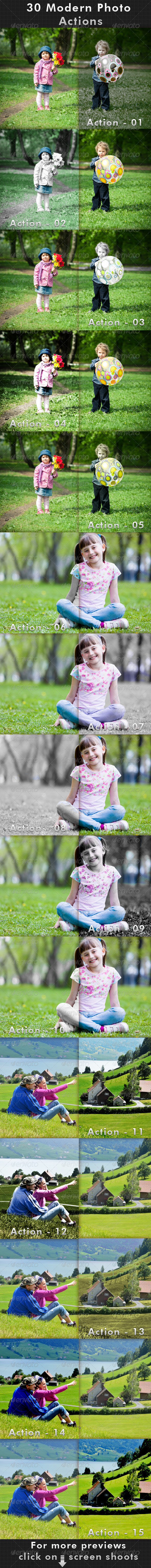 GraphicRiver 30 Modern Photo Actions 7227723