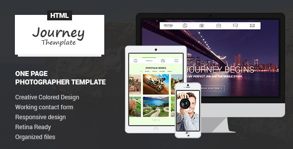 ThemeForest Journey Onepage Photographer Template 7188510