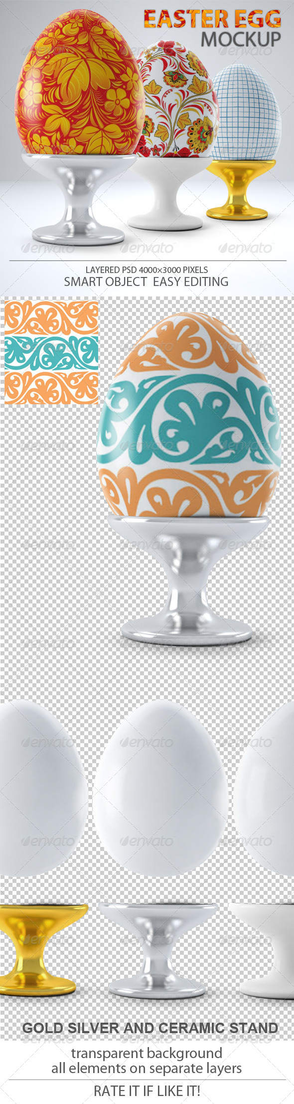 GraphicRiver Easter Egg Mock-up 7227918
