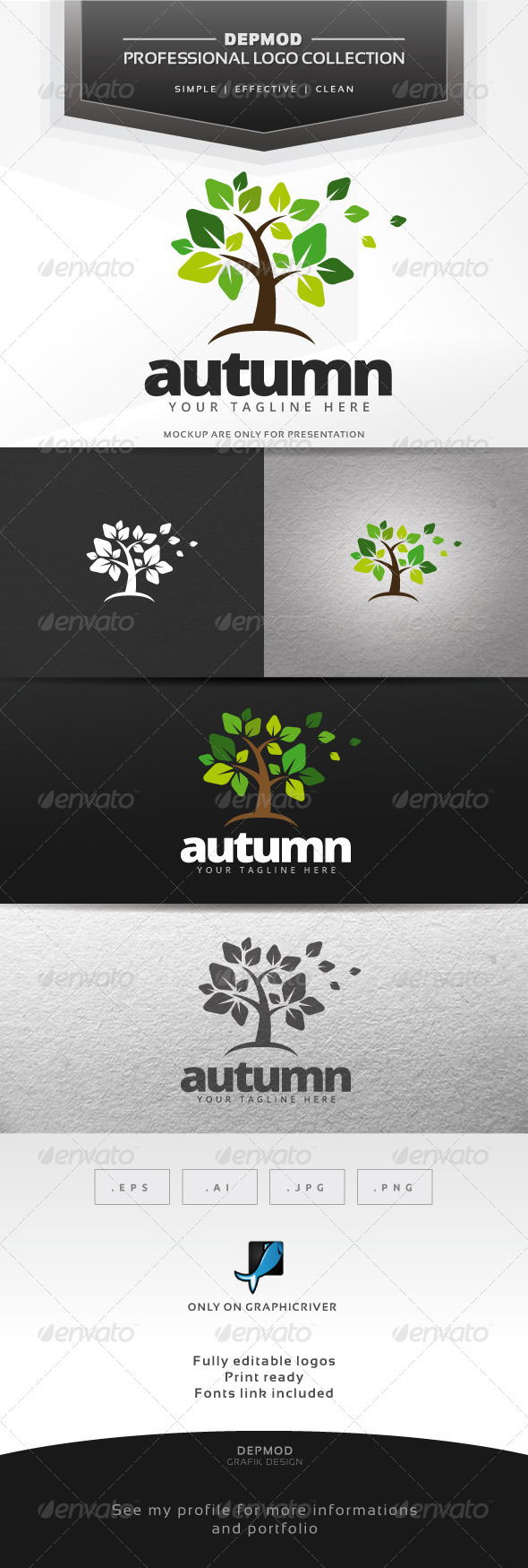 Autumn Logo - Nature Logo Templates