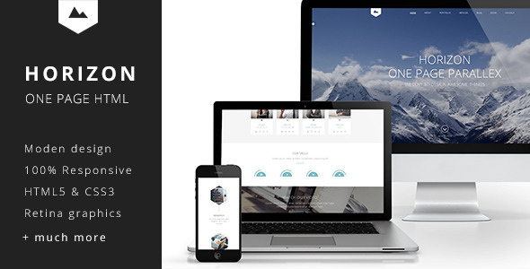 ThemeForest Horizon One Page HTML5 Template 7204692