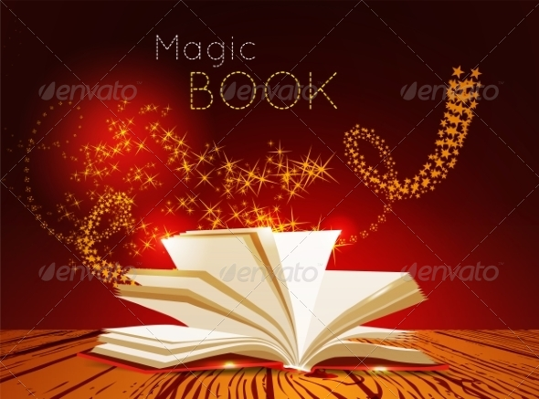 GraphicRiver Opened Book with Magic Light 7228314