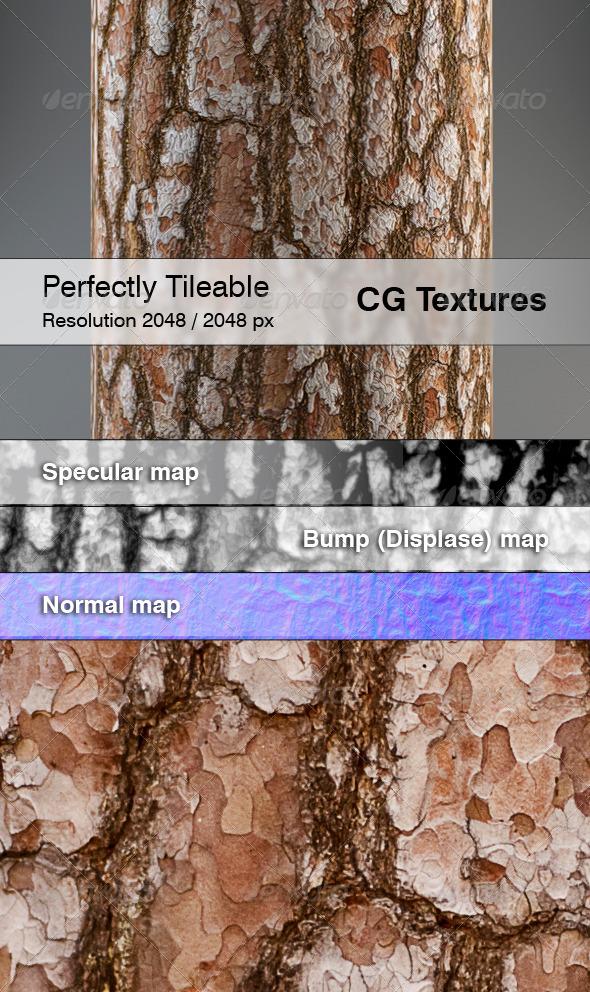 3DOcean Realistic Pine Bark Textures 7228340