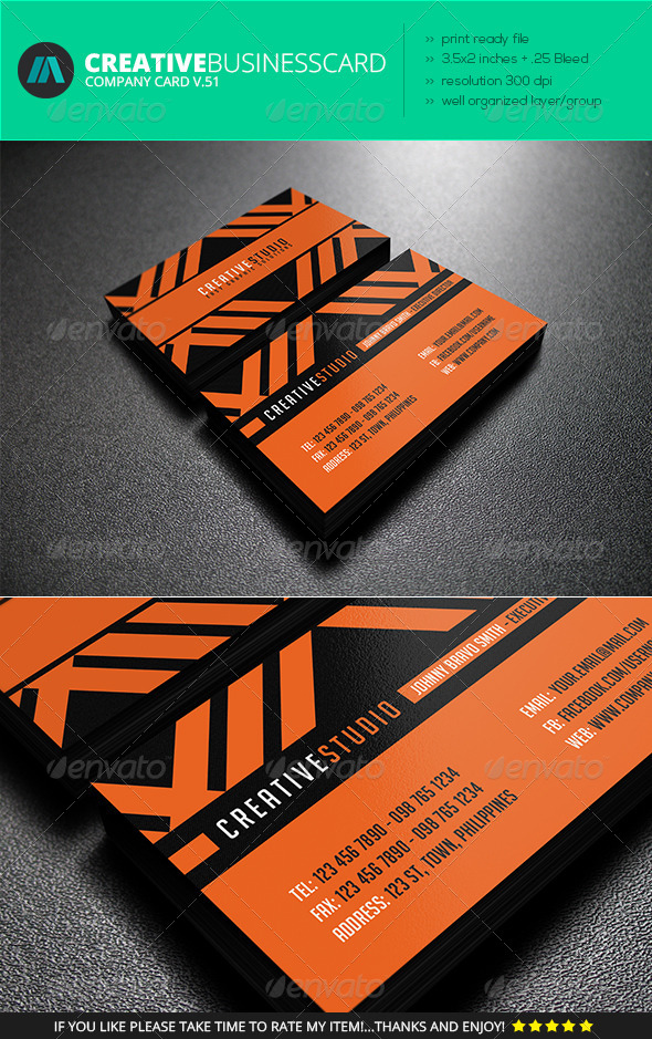 GraphicRiver IntenseArtisan Business Card Vol.51 7228348