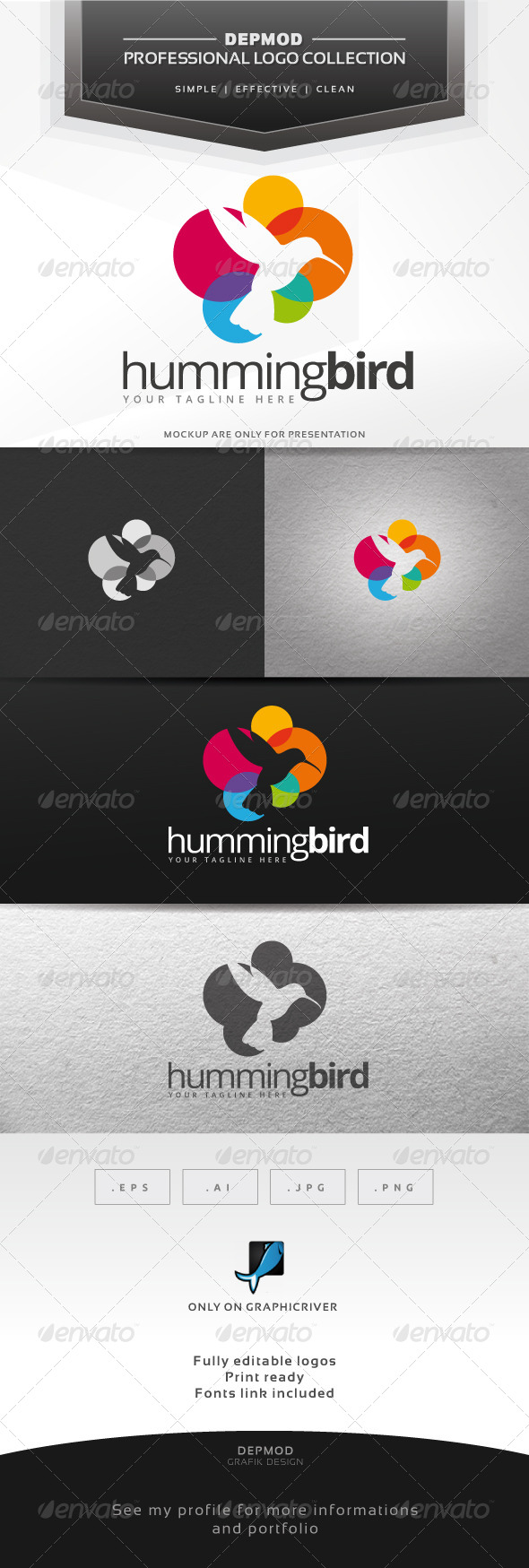 GraphicRiver Hummingbird Logo 7228369