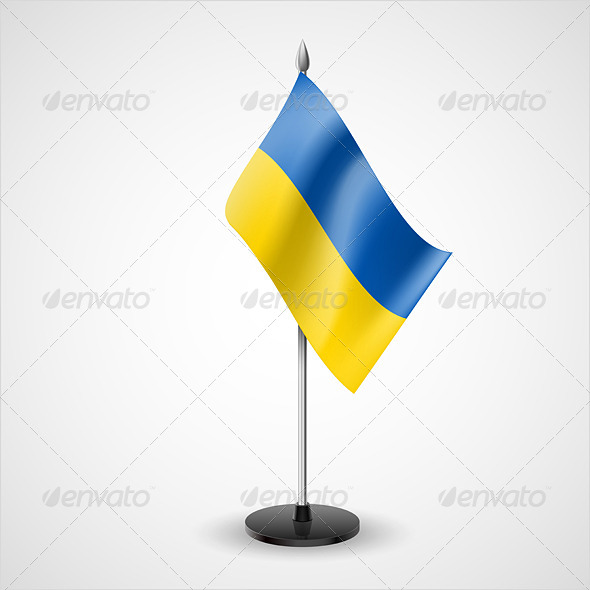 GraphicRiver Table Flag of Ukraine 7228388