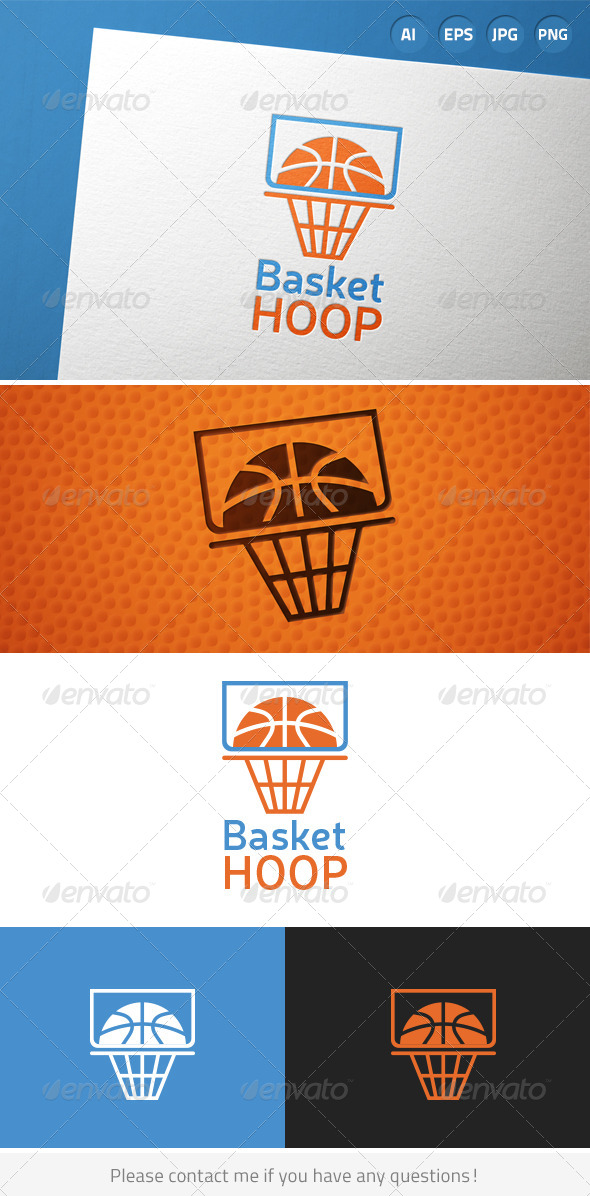 GraphicRiver Basketball Hoop Game Logo 7228492