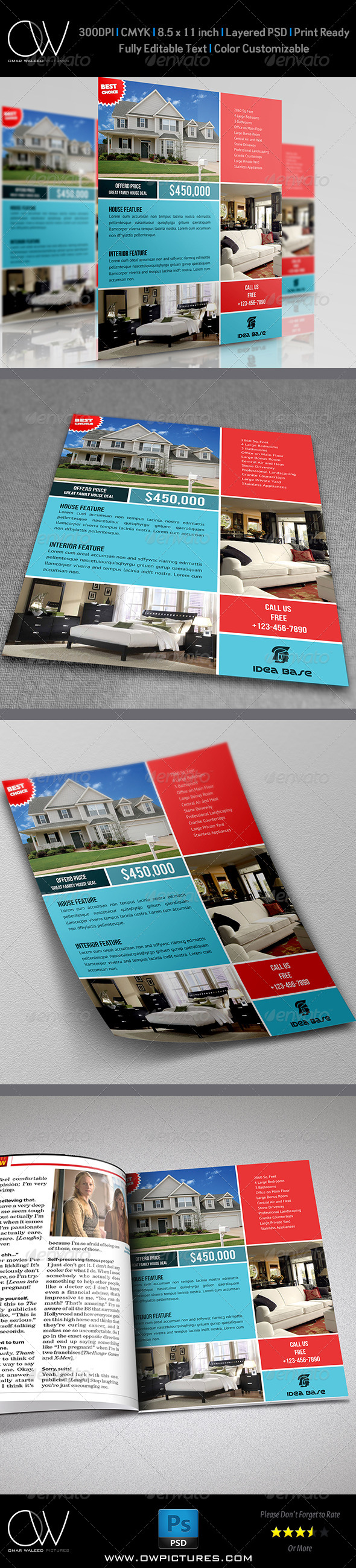GraphicRiver Real Estate Flyer Template Vol.9 7228608