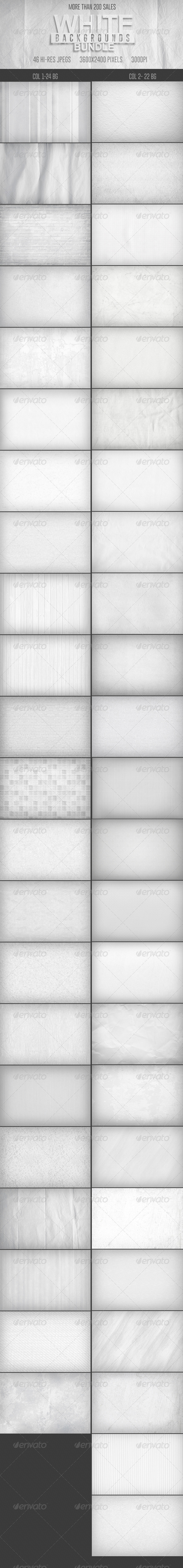 GraphicRiver 46 White Backgrounds Bundle 7228618
