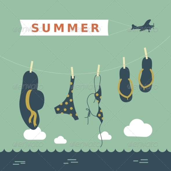 GraphicRiver Summer Card 7228640