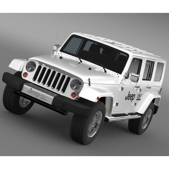 3DOcean Jeep Wrangler Electric Vehicle Concept 7228801
