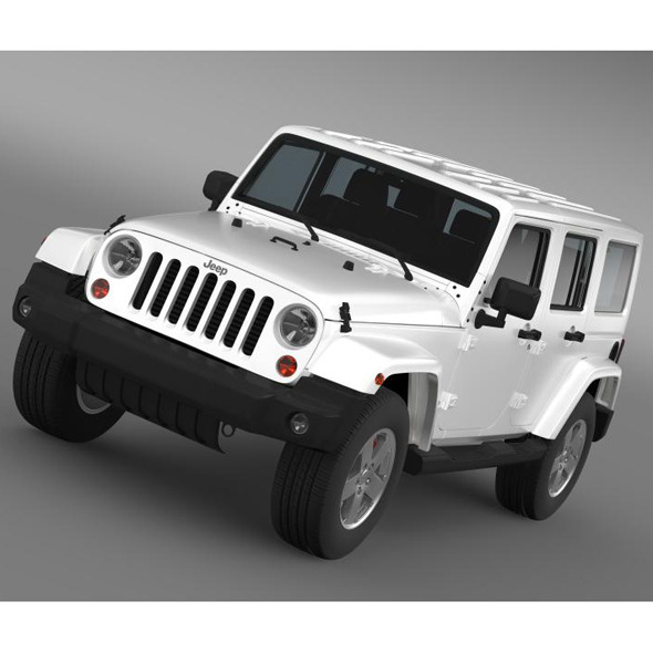 3DOcean Jeep Wrangler Unlimited Sahara EU spec 2011 7228811