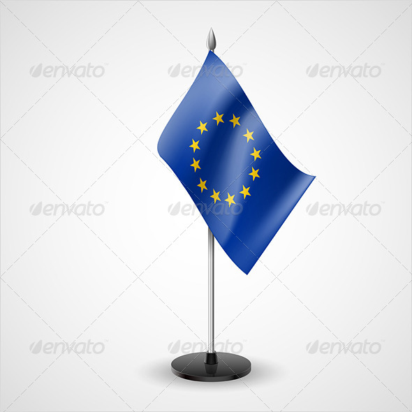 GraphicRiver Table Flag of European Union 7228822