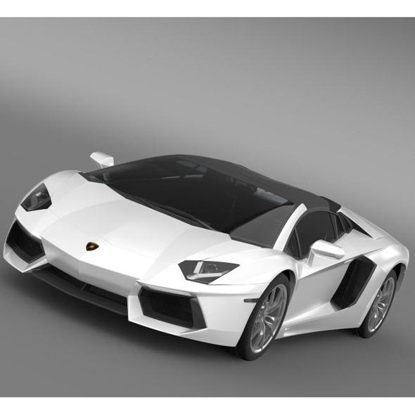 3DOcean Lamborghini Aventador LP 700 4 Roadster 7228836