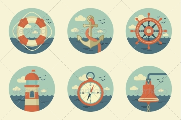 GraphicRiver Retro Marine Icons 7228841