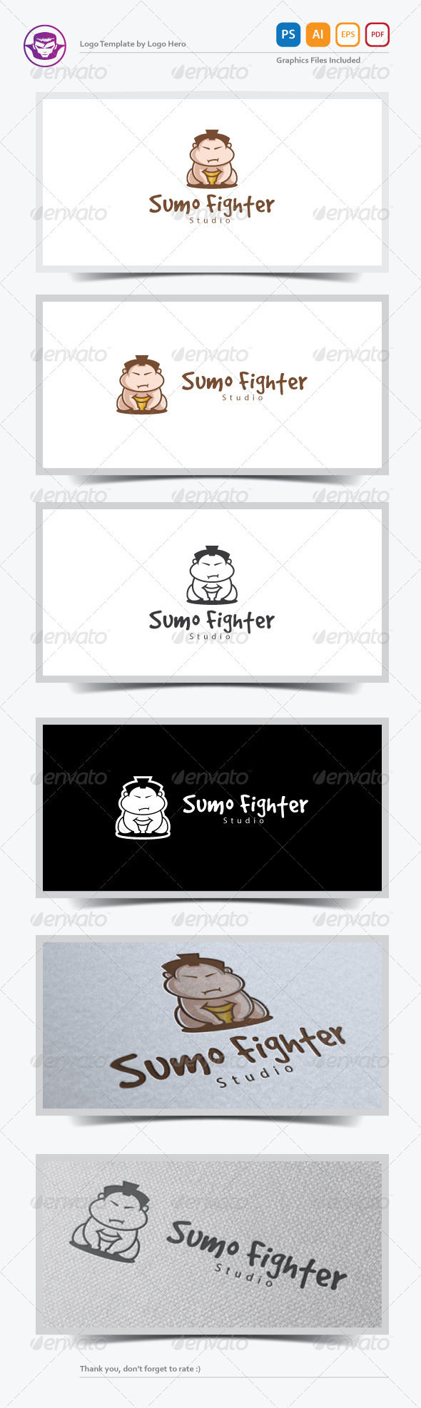 GraphicRiver Sumo Fighter Logo Template 7228932