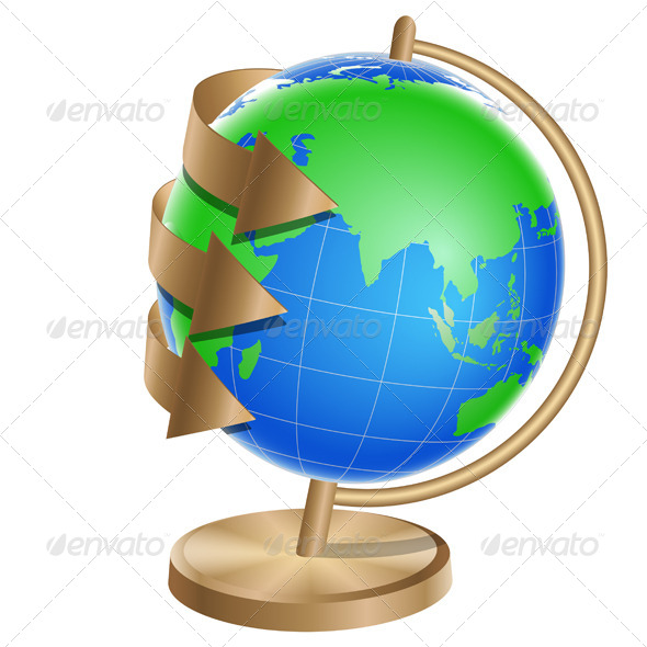 GraphicRiver Globe with Arrows Around 7228934