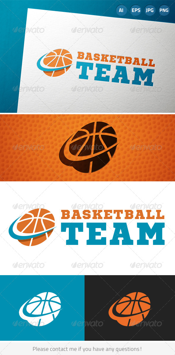 GraphicRiver Basketball Team Sports Logo 7228955