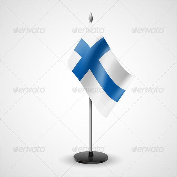 GraphicRiver Table Flag of Finland 7228971
