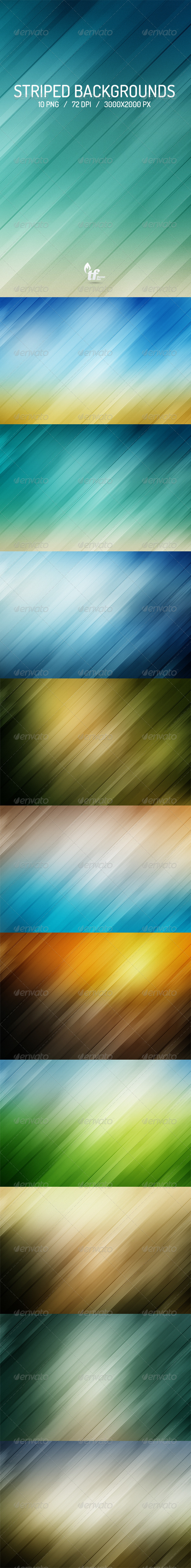 GraphicRiver Striped Backgrounds 7229020
