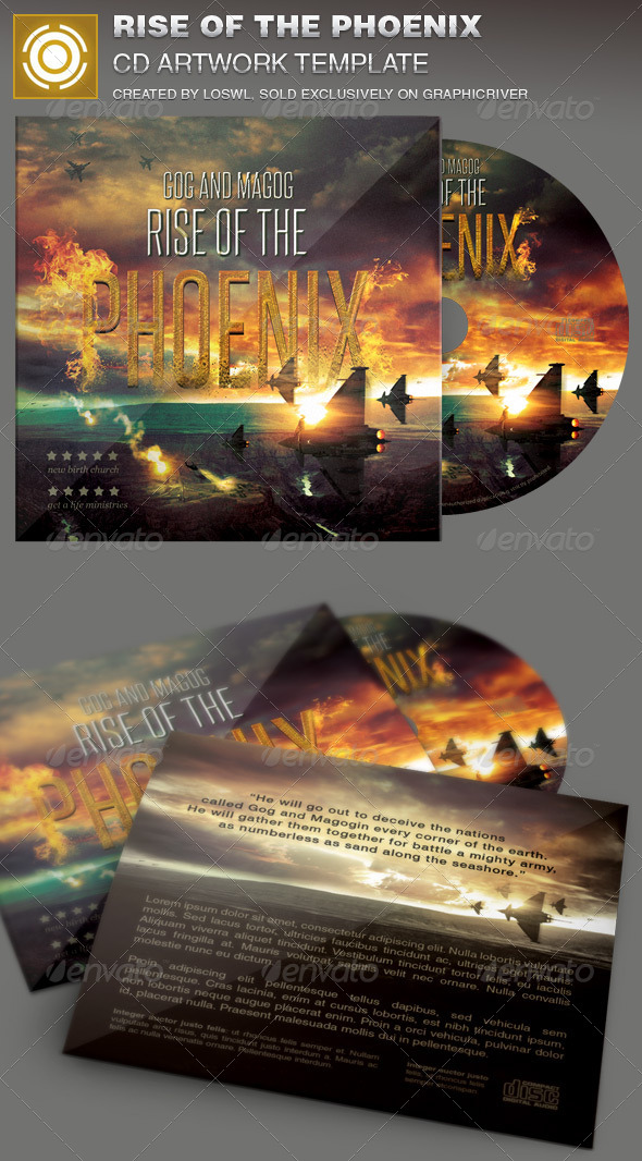 GraphicRiver Rise of the Phoenix CD Artwork Template 7229099