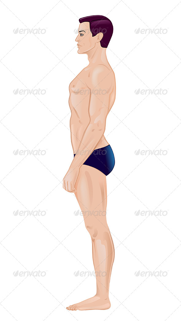GraphicRiver Naked Standing Man 7229102