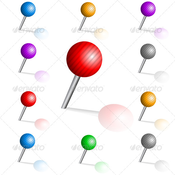 GraphicRiver Color Pins 7229122