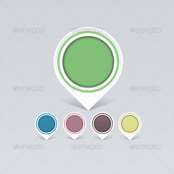 GraphicRiver Set of Old Colorful Markers 7229137