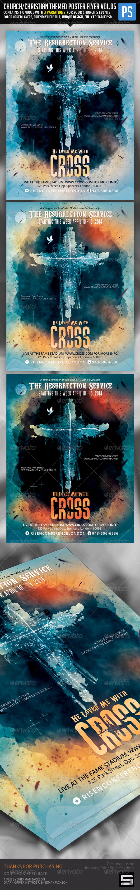 GraphicRiver Church Christian Themed Poster Flyer Vol.5 7229166