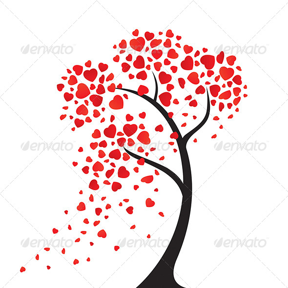 GraphicRiver The Hearts Tree 7229190