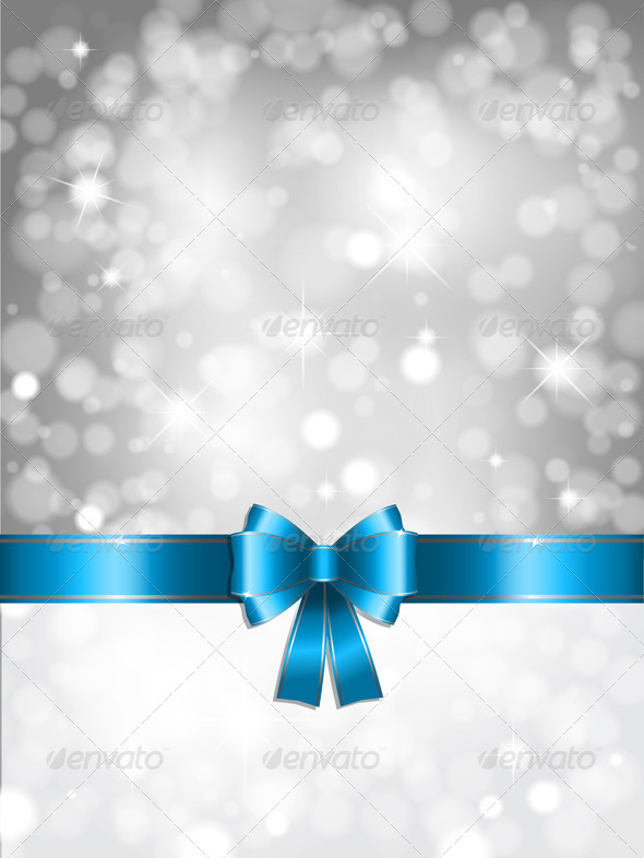 GraphicRiver Silver Christmas lights Background 757227