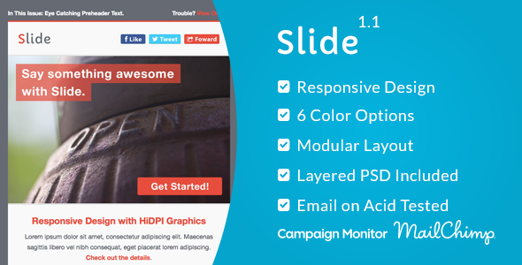 ThemeForest Slide Responsive Email Template 7208428