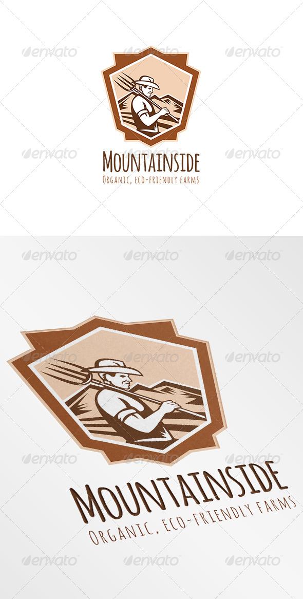 GraphicRiver Mountainside Organic Eco-Friendly Farms Logo 7229307