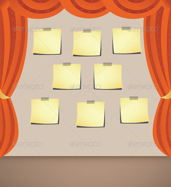 GraphicRiver Curtain with Note Papers 7229329