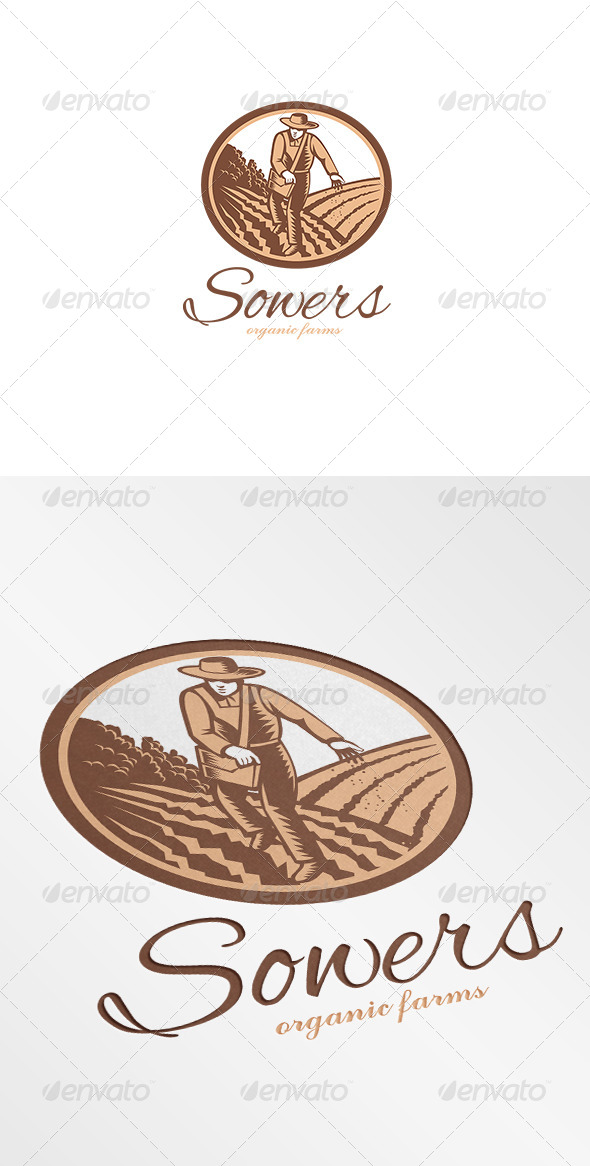 GraphicRiver Sowers Organic Farms Logo 7229334