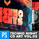 Techno Nights Live Vol.2 CD Album Artwork - GraphicRiver Item for Sale