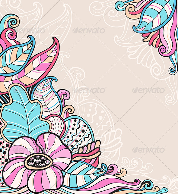 GraphicRiver Abstract Floral Background 7229434