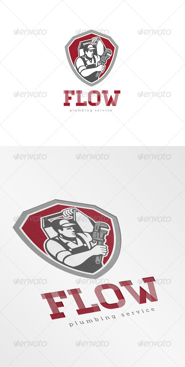 GraphicRiver Flow Plumbing Services Logo 7229466