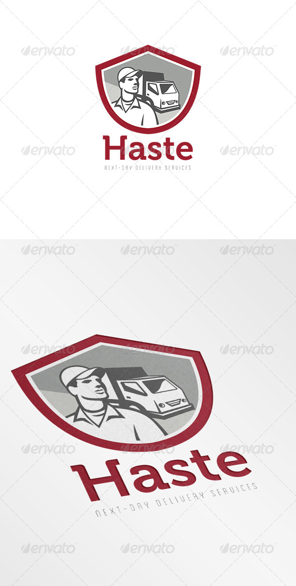 GraphicRiver Haste Next Day Delivery Service Logo 7229563