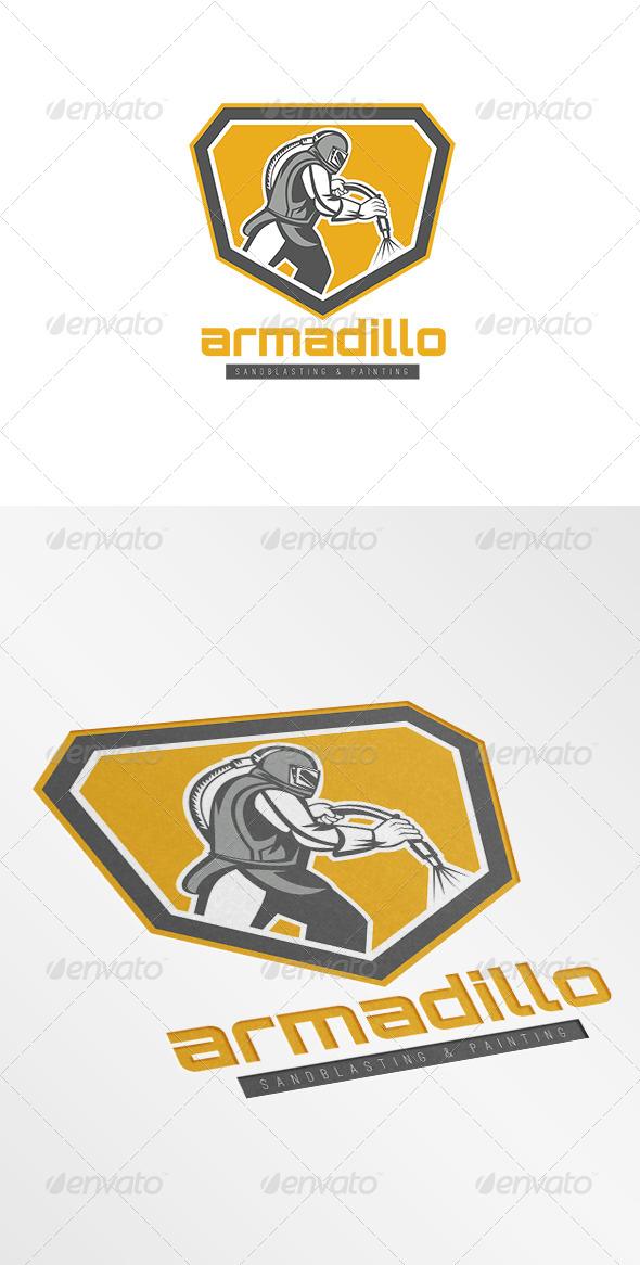 GraphicRiver Armadillo Sandblasting Logo 7229577