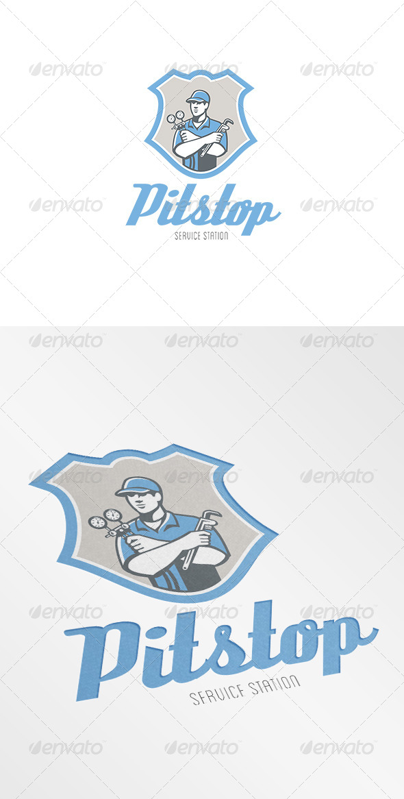 GraphicRiver Pitstop Refrigeration Air Conditioning Service Log 7229689